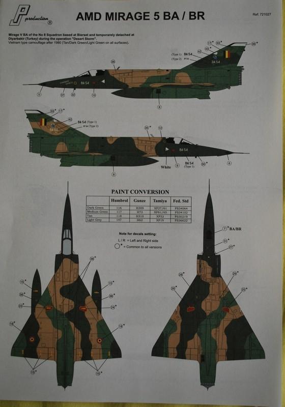 [PJ Prod] 1/72 Mirage 5BA / BR Image037