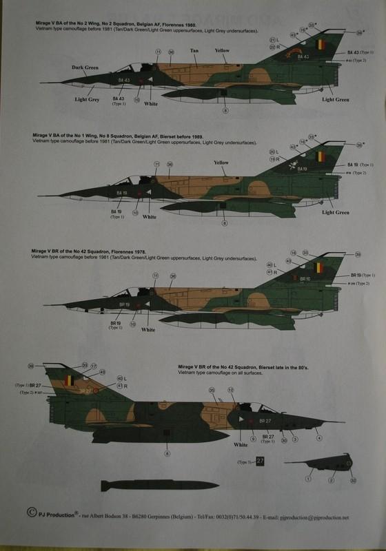 [PJ Prod] 1/72 Mirage 5BA / BR Image038