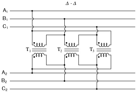 Transformer banks Delta_12