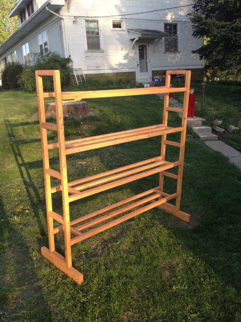 Homemade Tiered Growing Stand Stand-11