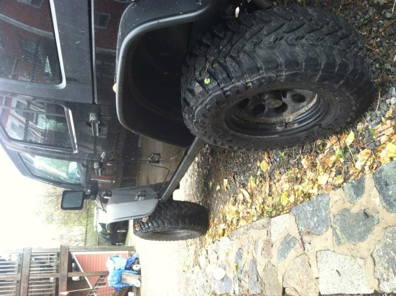 "FEELER: (Five) 35x12.50x17 Toyo MTs / 17"" Black Steel Pro Comp Wheels w 4.25 BS Tires410"