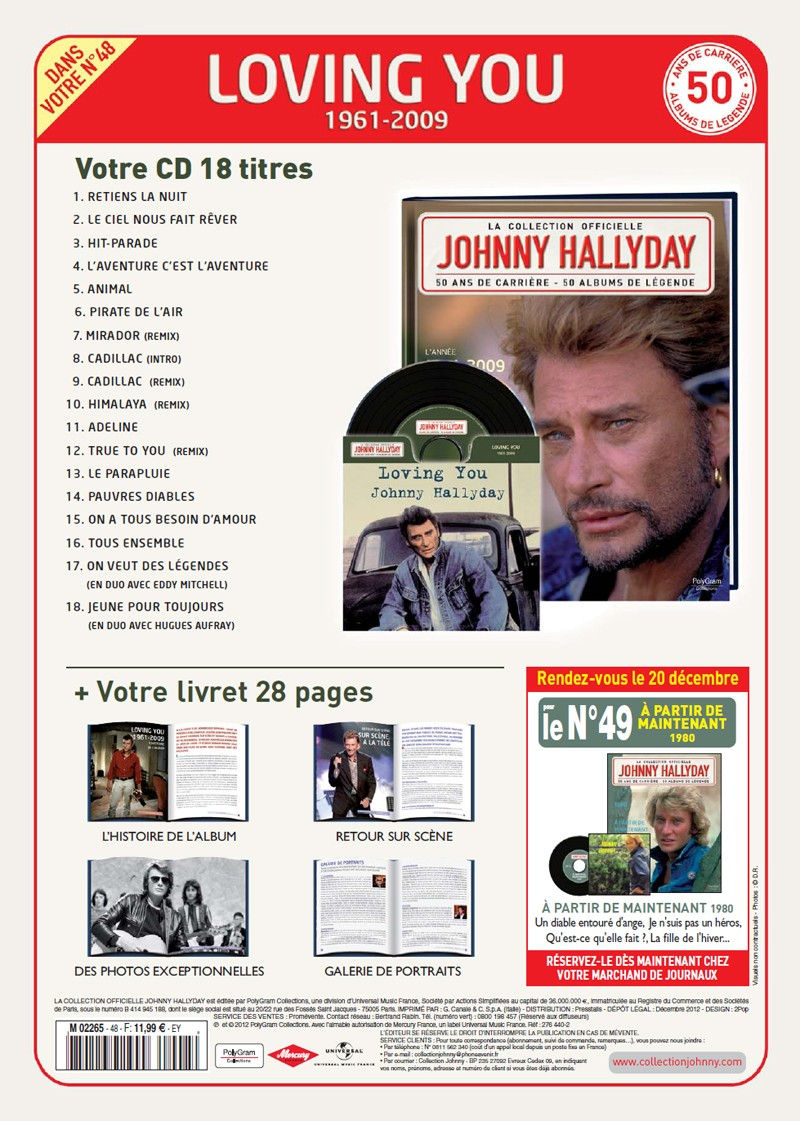 N° 48 1961-2009 Loving You Jhcoll60