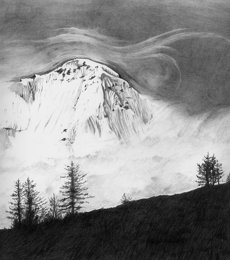 neve, nebbia e alberi  Montag10