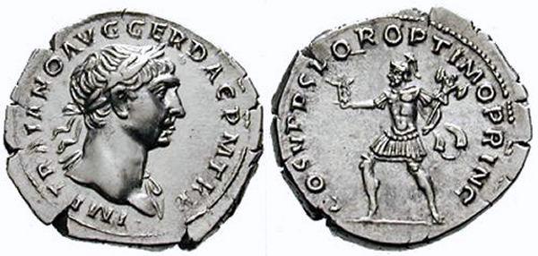 Denier Trajan S P Q R OPTIMO PRINCIPI  Ric_0111