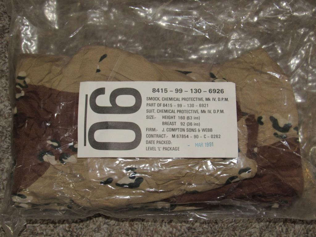 "British made 6 Color Desert Chocolate Chip ""Mk. IV DPM Chemical Protective Smock"" Britis22"