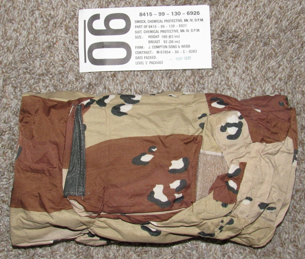"British made 6 Color Desert Chocolate Chip ""Mk. IV DPM Chemical Protective Smock"" Britis24"