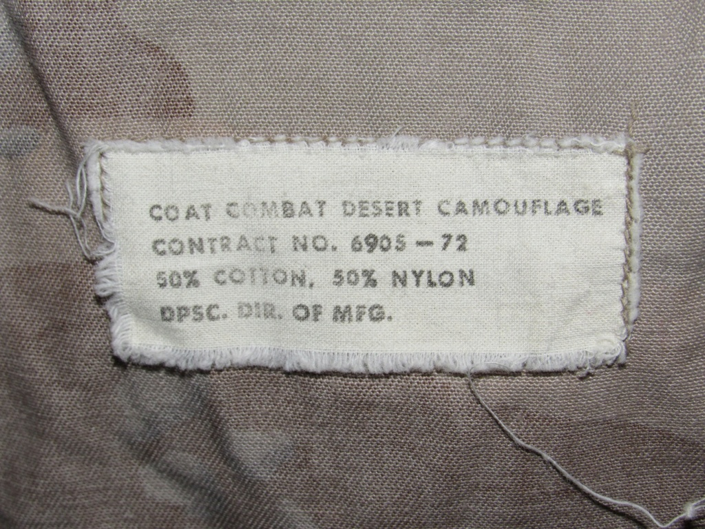 """Desert uniforms (DCU) - DESERT 6 colors """"Chocolate chip""""  dated 1984 - Page 2 Img_4716"""
