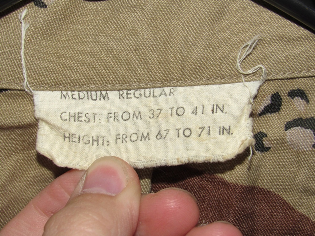 """Desert uniforms (DCU) - DESERT 6 colors """"Chocolate chip""""  dated 1984 - Page 2 Img_4721"""