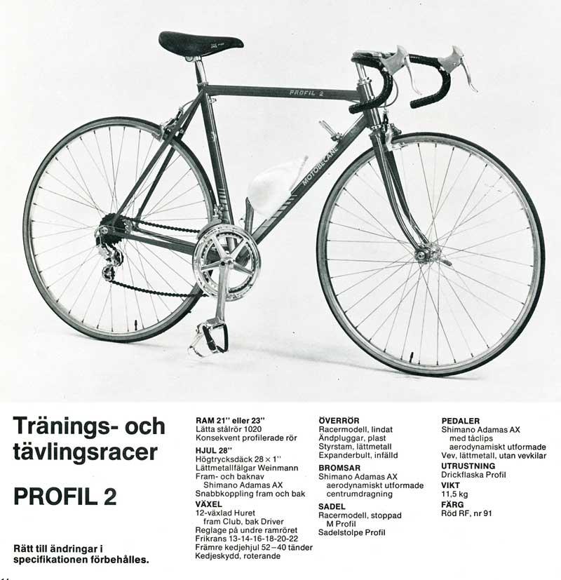 MOTOBECANE PROFIL 2 1982 d'origine , vert  Profil10