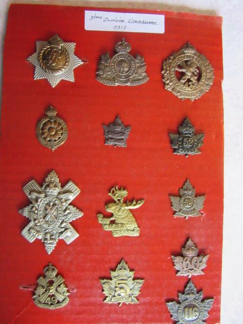 Cap badge WW1 NZ et CANADIEN Img_9768