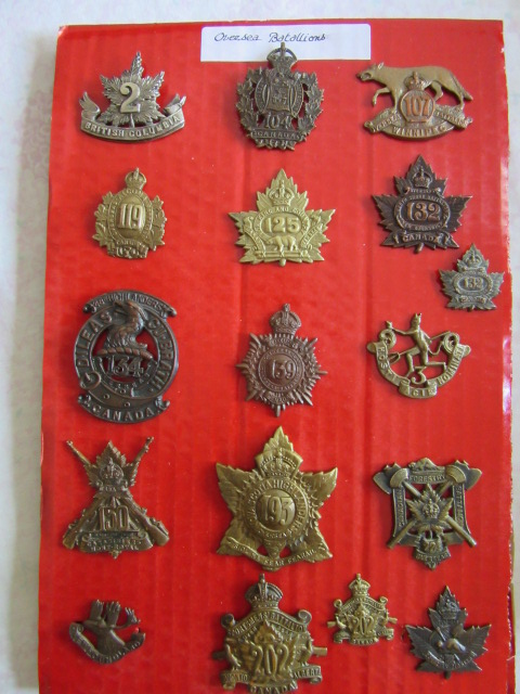canadian cap badges and so on... Overse10
