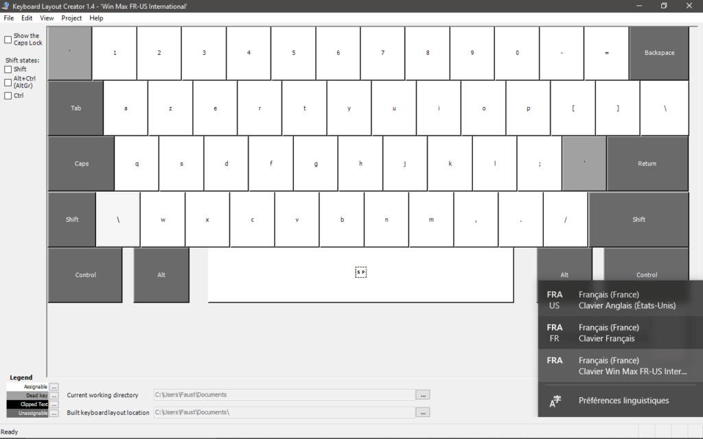 GPD WIN Max - clavier AZERTY FR-US international Micros22