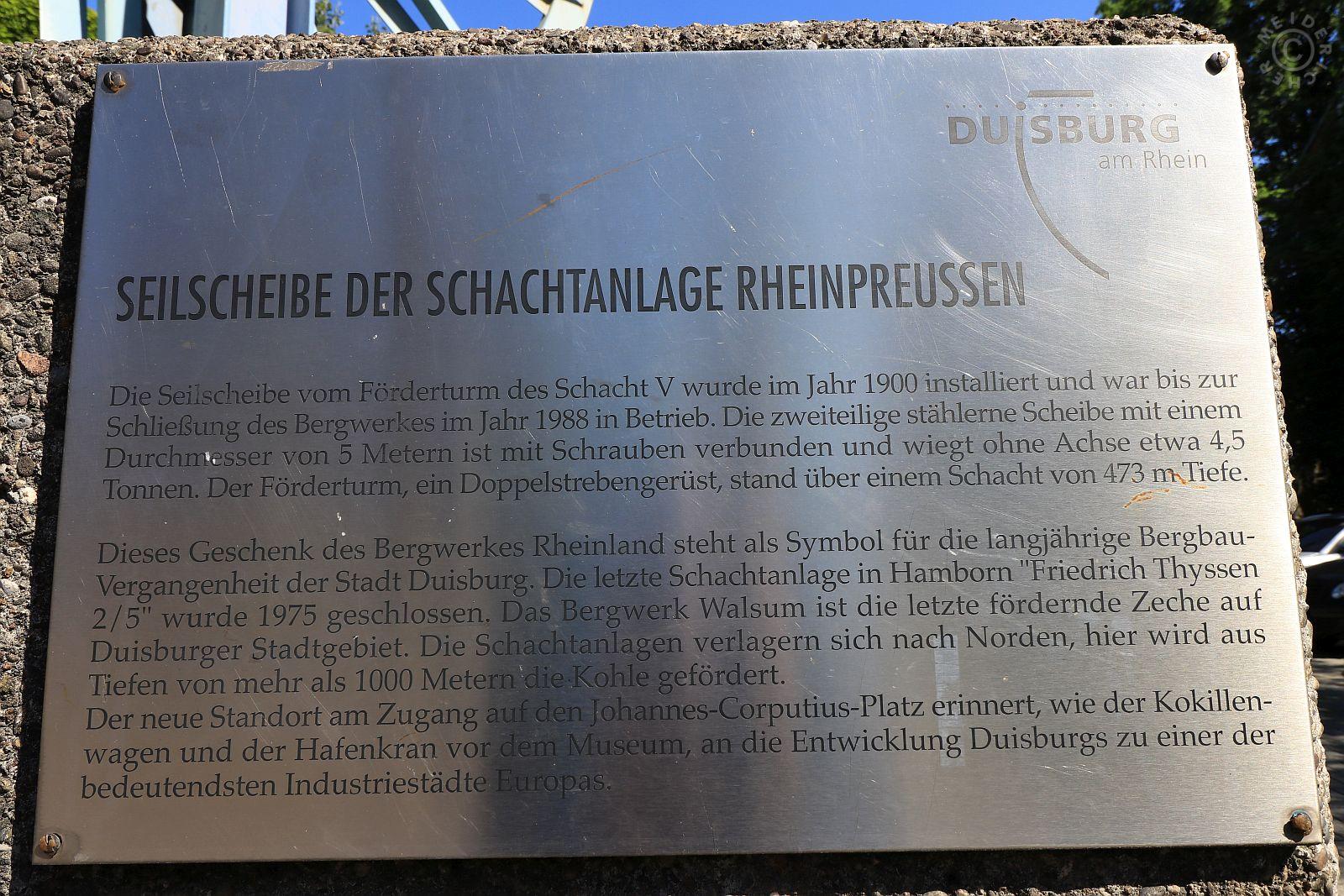 Seilscheibe Zeche Rheinpreussen Schacht 5 2_110