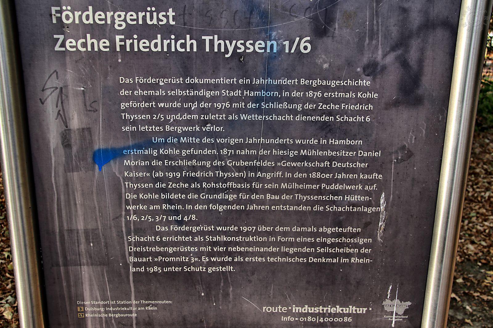 Zeche Friedrich-Thyssen Schacht 1/6 910