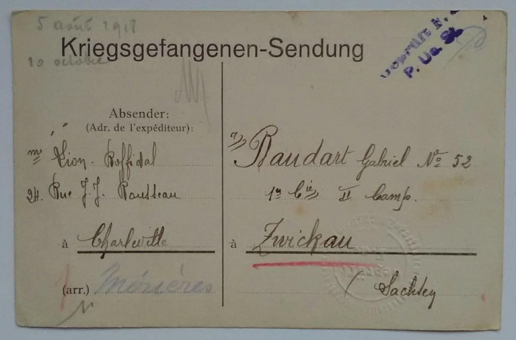 Une lettre à un prisonnier – une histoire familiale – une voix 1912-1918 Img_2627