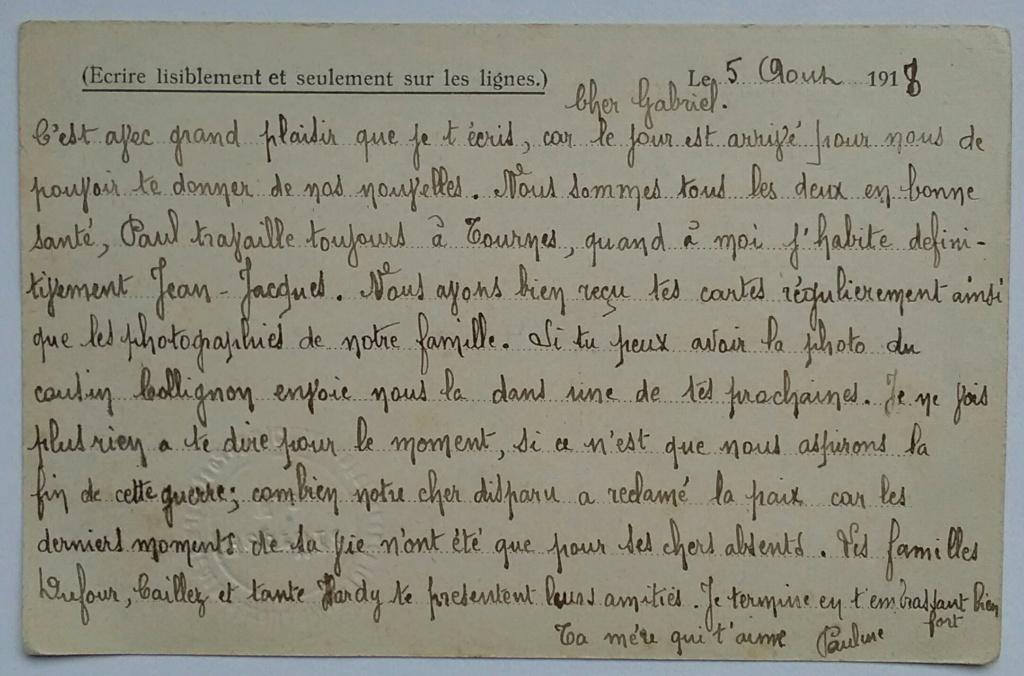 Une lettre à un prisonnier – une histoire familiale – une voix 1912-1918 Img_2628