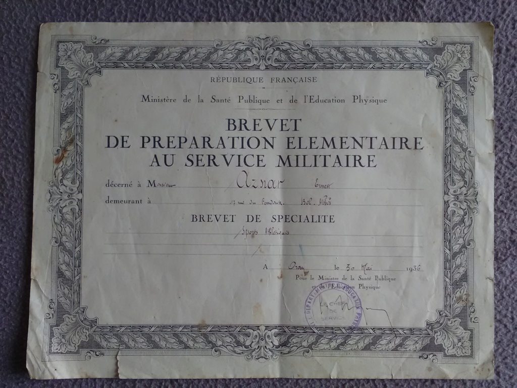 Jean AZNAR - 2ème classe au 21ème RIC - 1936/1938 Img_2802