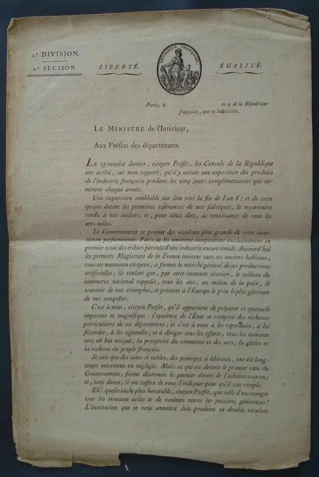 Authentification - signature Jean-Antoine Chaptal - an IX Img_2818