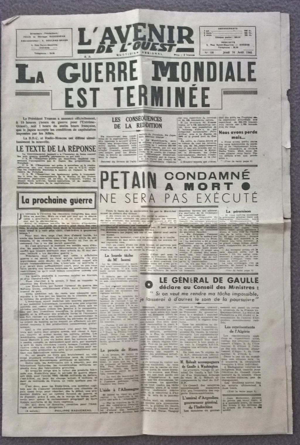 Mai-septembre 1945 : les journaux de la fin de la Seconde Guerre mondiale Wp_20201