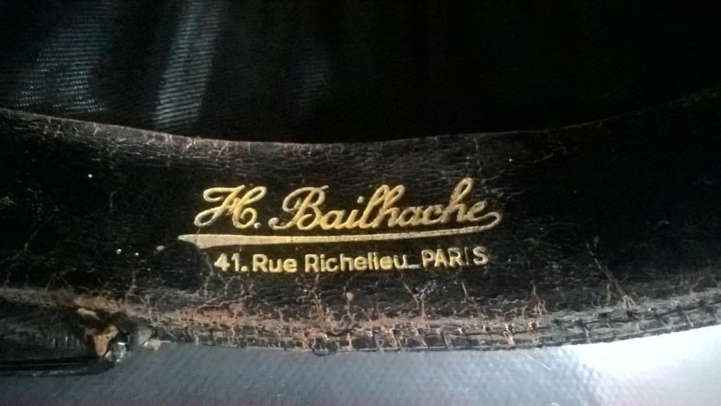 Renseignement sur un fabricant de coiffes militaires/civiles : Bailhache Paris Wp_20489