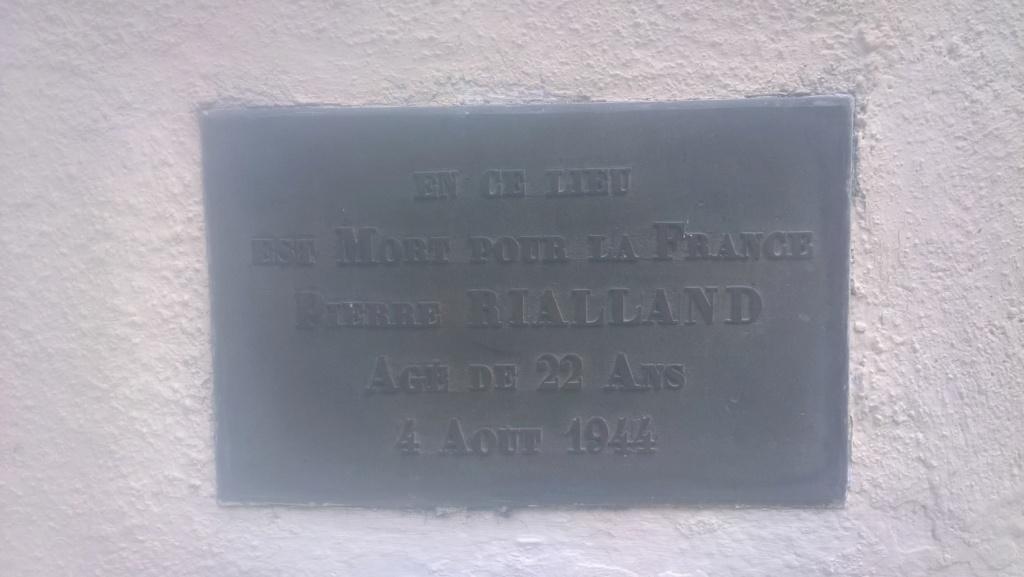 Monument à la mémoire de P. Rialland, résistant - Panezeg/Tilhieg Wp_20698