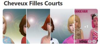 Cheveux Courts pour Filles (Style Cartoon) 132