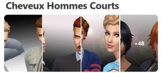 Cheveux Courts pour Hommes (Style Cartoon) 133