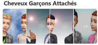 Cheveux Attachés pour Garçons (Style Cartoon) 229