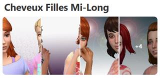 Cheveux Mi-Long pour Filles (Style Cartoon) 230