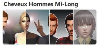 Cheveux Mi-Long pour Hommes (Style Cartoon) 231