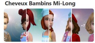 Cheveux Mi-Long pour Bambins (Style Cartoon) 321