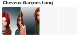 Cheveux Longs pour Garçons (Style Cartoon) 322