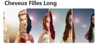 Cheveux Longs pour Filles (Style Cartoon) 323