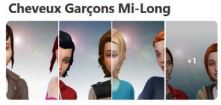 Cheveux Mi-Long pour Garçons (Style Cartoon) 419