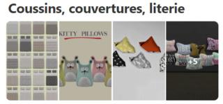 Coussins, couvertures, literie 519