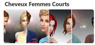 Cheveux Courts pour Femmes (Style Cartoon) 521