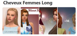 Cheveux Longs pour Femmes (Style Cartoon) 718