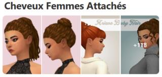 Cheveux Attachés pour Femmes (Style Cartoon) 818