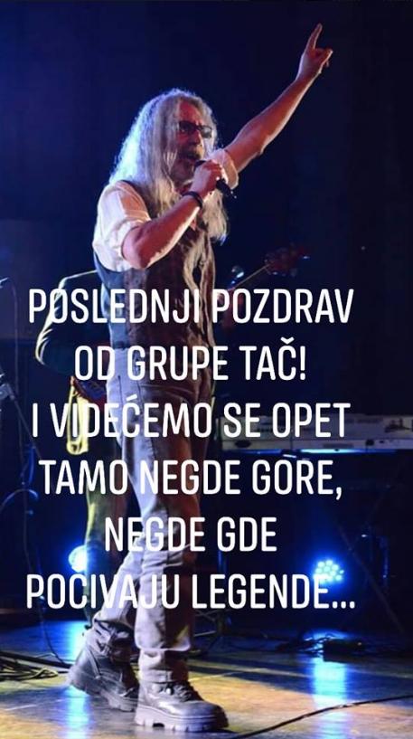 Preminuo Aleksandar Aca Stojković pevač grupe Tač Screen90