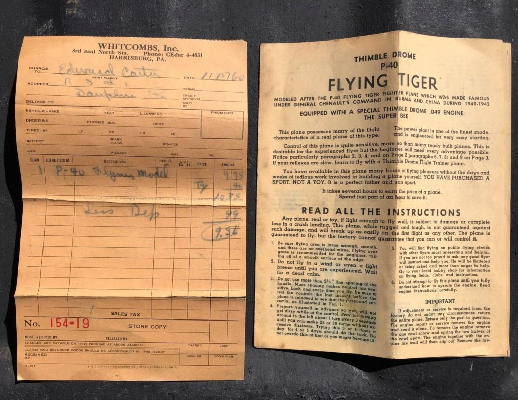 Flea market Cox P-40, F4U + receipts P-40_f12