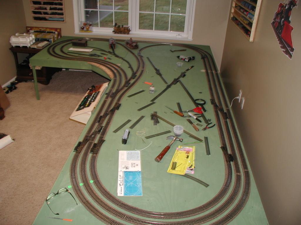 My layout as it progresses P1010119