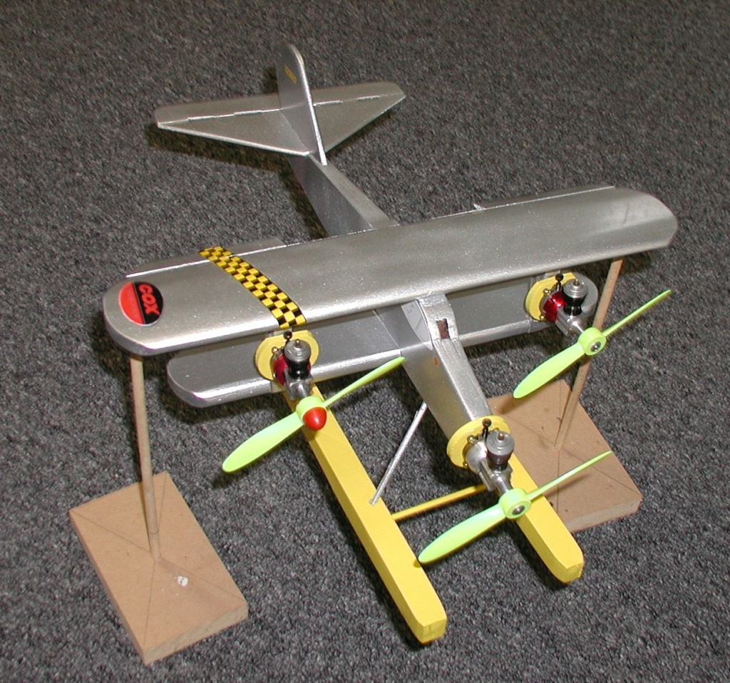 I build Rene's wacky Cox tri-motor pontooned tether car/airplane among other things - Page 2 P1011769