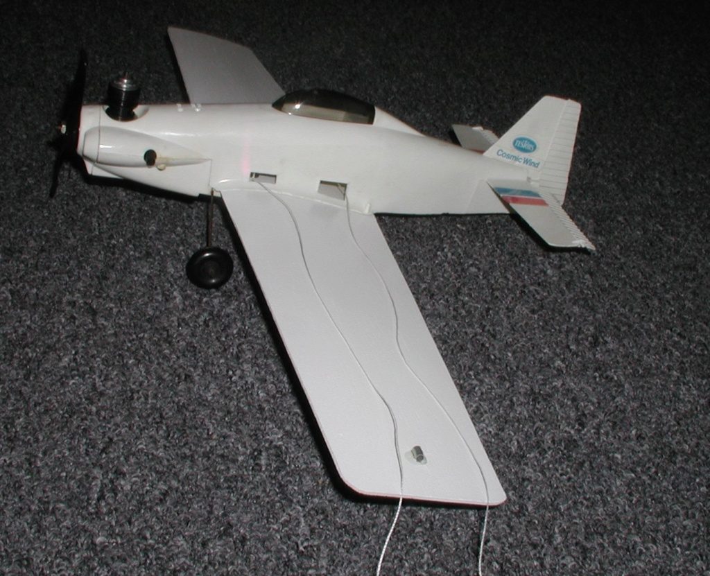 Mixing balsa and plastic.  Testor's P-40 and Cosmic Wind revisited. P2200011