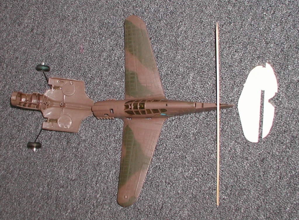 Mixing balsa and plastic.  Testor's P-40 and Cosmic Wind revisited. P2200012