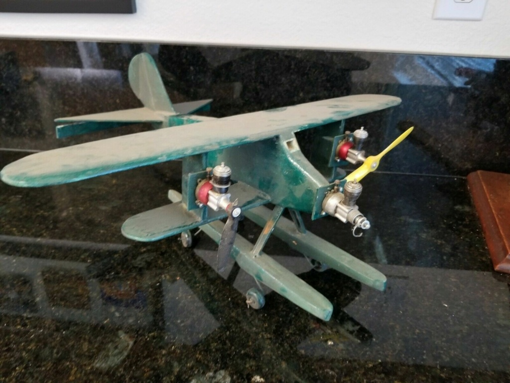 I build Rene's wacky Cox tri-motor pontooned tether car/airplane among other things Wild_c13
