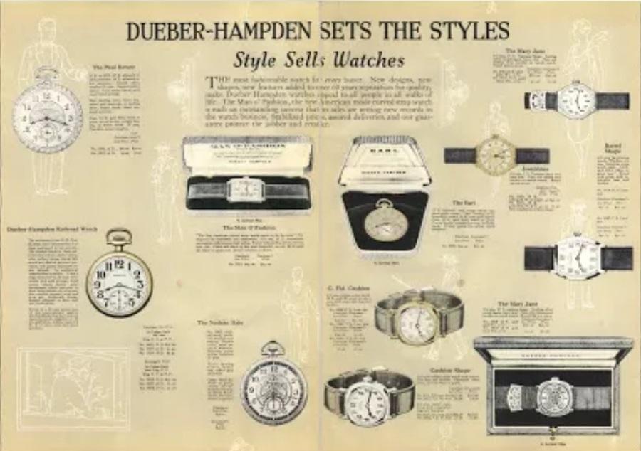 1930: Le déménagement à Moscou des fabriques Dueber-Hampden et Ansonia Clock 1927dh10