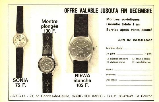 La distribution des montres soviétiques en France Pif210