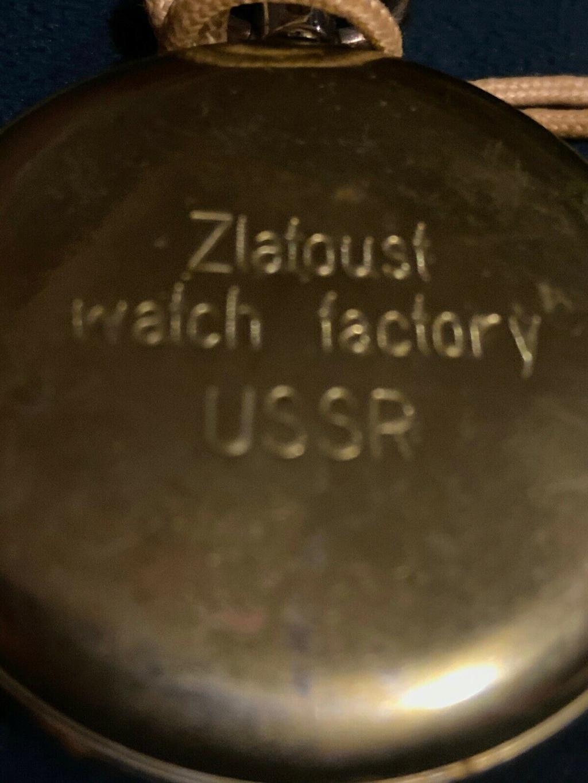 Histoire et marquages de la Fabrique de Montres de Zlatoust Sek210