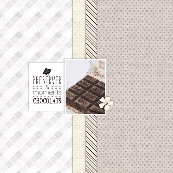 Pages réalisées avec le kit chocolat Chocol14