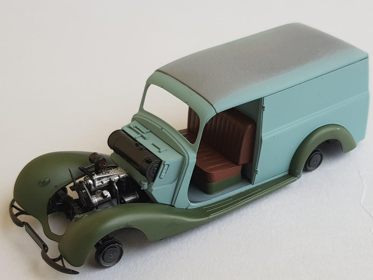 Camionnette Mercedes 170V (MiniArt au 1/35) - Page 2 Montag44